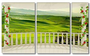 Холмы с веранды