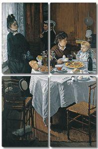 Моне Клод. Завтрак, 1868