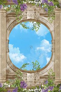 Небо в овальном световом окне
