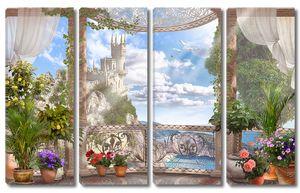 Балкон с видом на замок