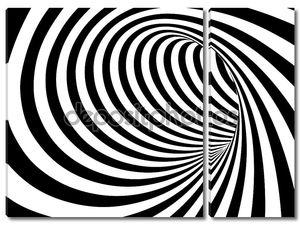 Черный и белый Аннотация вектор туннель