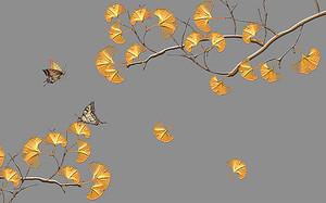 Ветки с веерными листиками