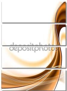 Абстрактный фон с оранжевой линией