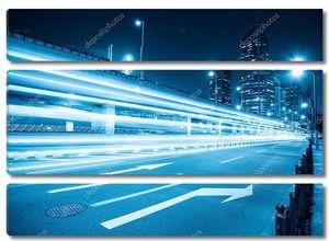 Легкие трассы на дороге города