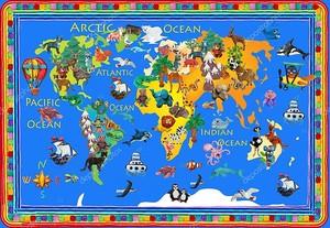 Мировые животные пластилин красочные дети 3D карта