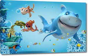 Очень добрая акула