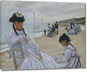 Клод Моне . Пляж в Трувиле