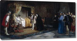 Арройо и Лоренсо Мануэль. Герцогиня Алансон приводит к своему брату Франциску I императора Карла V