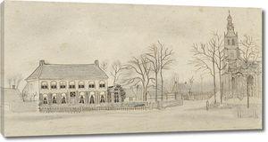 Ван Гог. Дом священника и Церковь в Эттене
