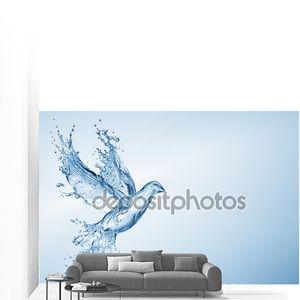 Голубь сделаны из брызги воды