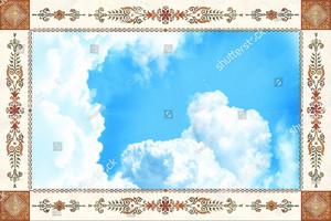 Небо с красивым узором по периметру