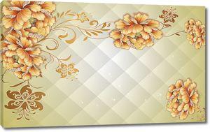 Цветки на вафельном фоне