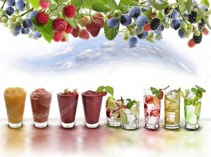Ассортимент фруктовых напитков