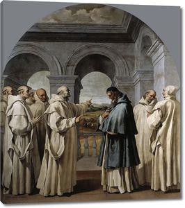 Кардучо Висенте. Святой Бруно изгоняет святого Юга