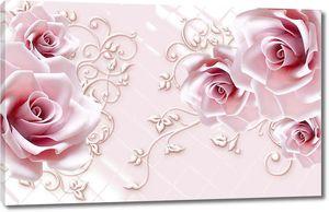 Объемные бутоны роз