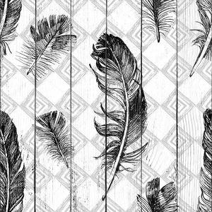 Паттерн с перьями