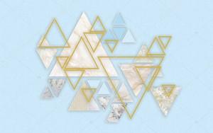 Мраморные треугольники разных цветов
