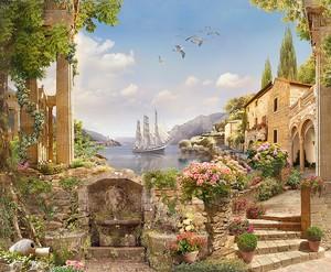 Каменный город с цветами
