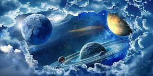 Планеты в космических облаках