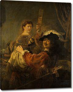 Рембрандт. Автопортрет с Саскией Эйленбург на коленях