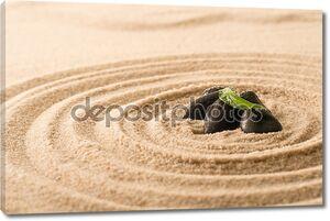 Спа еще природе zen камни в песке