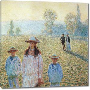 Моне Клод. Пейзаж в Живерни, 1888