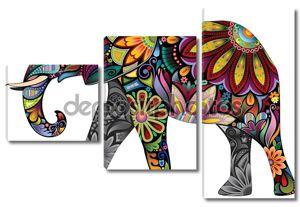 Веселый слон орнамент