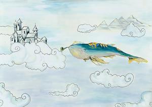 Кит в облаках