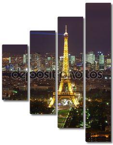 ночная эйфелевая башня