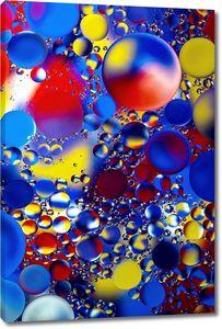 Смешение красок в пузырях