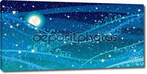 Вектор ночного небо