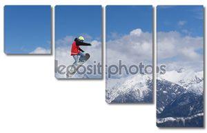 Экстремальный сноубордист