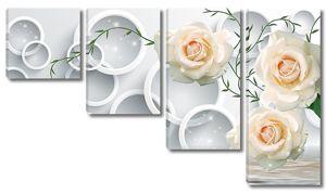 Кольца с розами