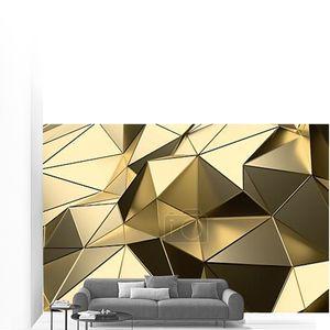 Абстрактные 3d-рендеринга поверхности золота низкой поли
