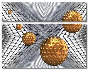 Металлические золотые шары