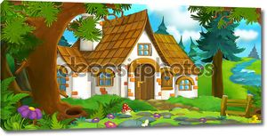 Иллюстрация сказочного леса