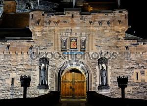 Castle at night. Edinburgh. Scotland. UK.