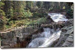 Национальный парк Глейшер водопад