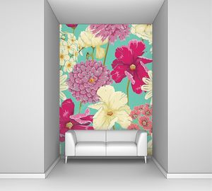 Цветочный фон в акварельном стиле