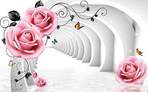 Белый тоннель с розами