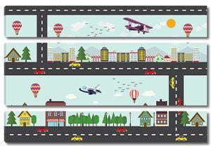 Дорога с машинками и самолетиками