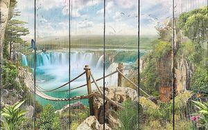 Мост через водопад