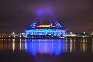 Зенит арена ночью