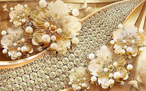 Цветы с ювелирными украшениями