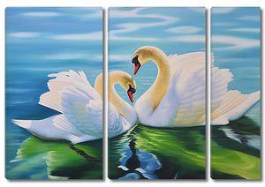 Лебеди с отражением