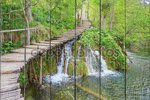 Каскады в plitvice национальном парке озер