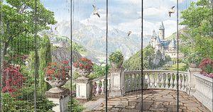Терраса с видом на замок и спуском вниз