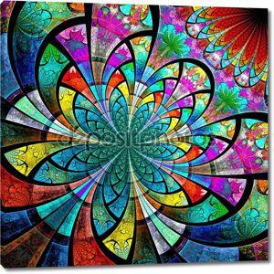 красочные Фрактальный цветок, цифровые изображения