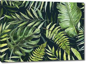 Ярко зеленая тропическая листва