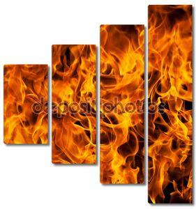Крупным планом пламени